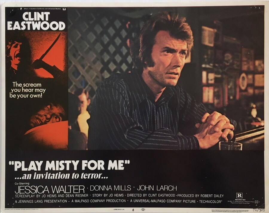 Play Misty For Me Lobby Card 1971
