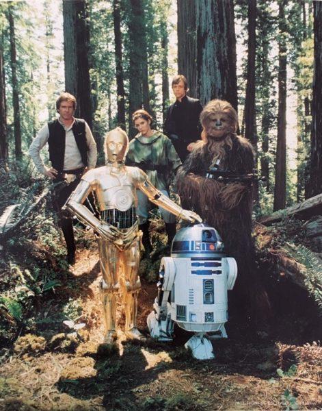 Return of the Jedi publicity photo - Endor group (1)
