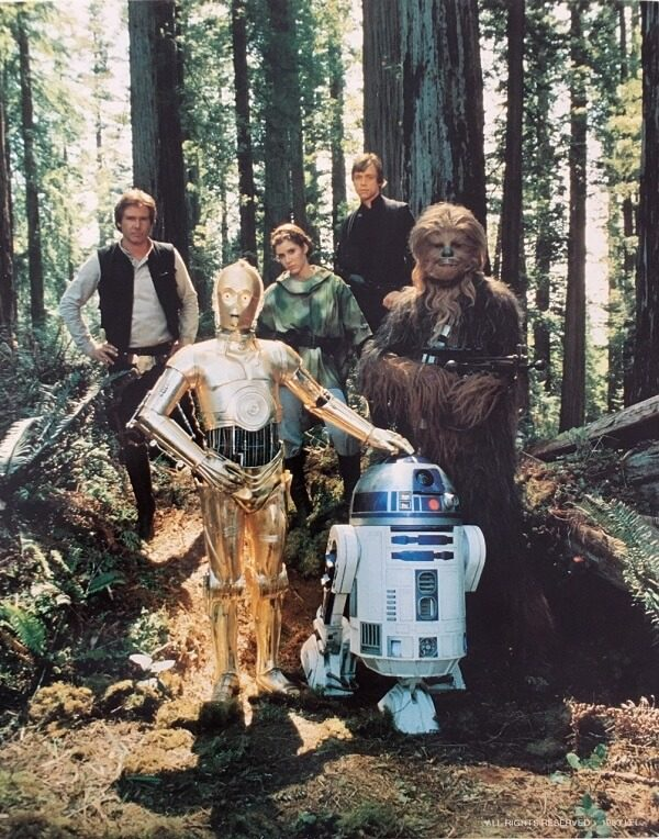 Return of the Jedi publicity photo - Endor group (1)
