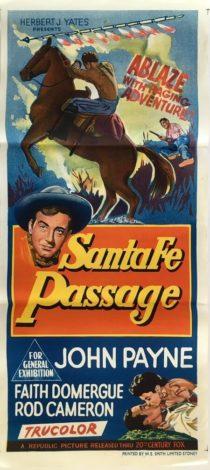 Santa Fe Passage Australian daybill poster