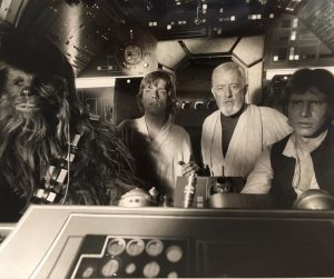 Star Wars Black And White Still - Falcon Cockpit (1)