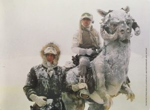 The Empire Strikes Back Publicity Photo - Han and Luke Tauntaun