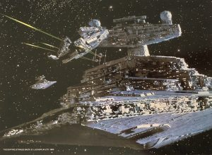 The Empire Strikes Back Publicity Photo - Star Destroyer and Falcon (1)