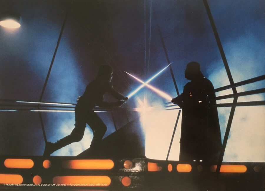 The Empire Strikes Back Publicity Photo - Vader and Luke Duel (1)