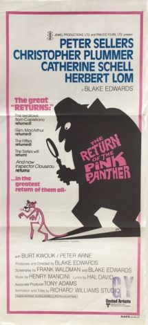 The return of the pink panther daybill 1975