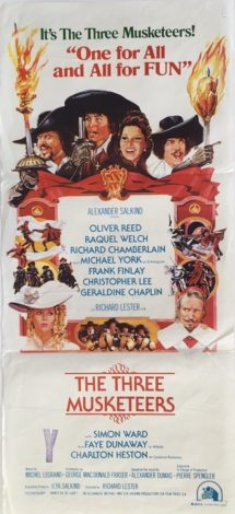 The three musketeers Australian daybill 1973