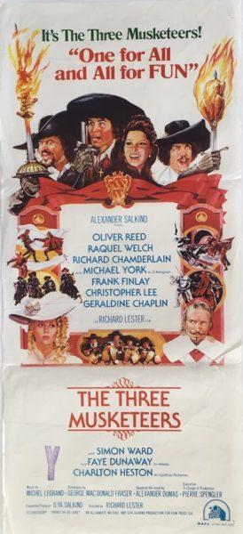 The three musketeers Australian daybill 1973