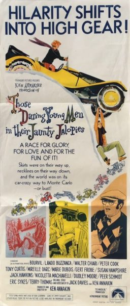 Those daring young men in their jaunty Jalopies Australian daybill 1969