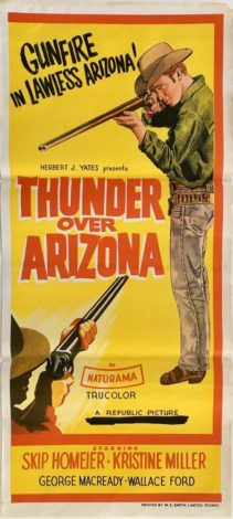 Thunder Over Arizona Australian daybill poster 1956