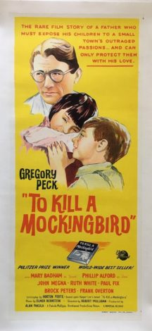 To Kill A Mockingbird Australian 1962 Daybill Linen Backed