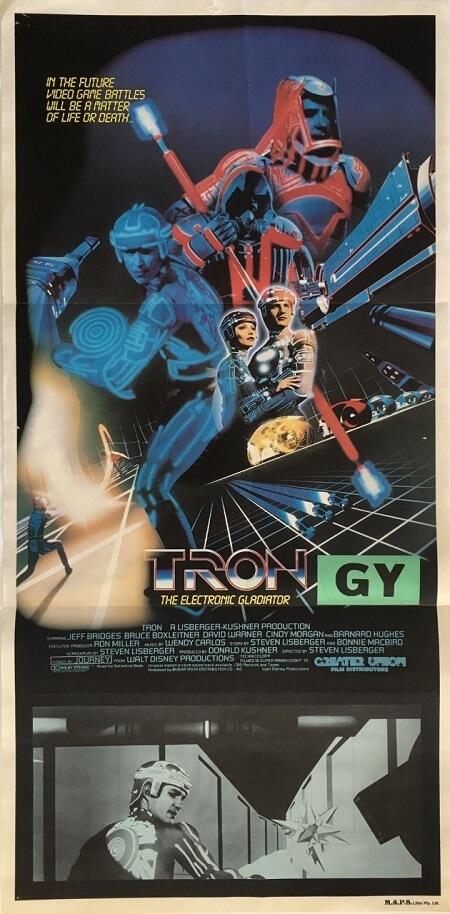 tron australian daybill poster 1982