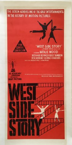 west side story australian daybill poster linen backed 1961