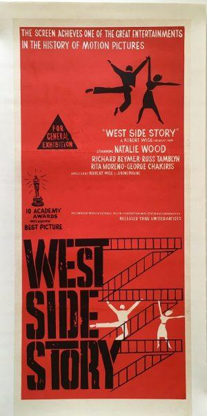 west side story australian daybill poster linen backed 1961
