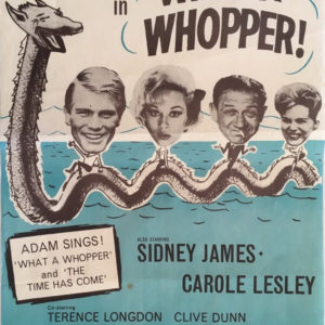 What a whopper UK original 1961 poster