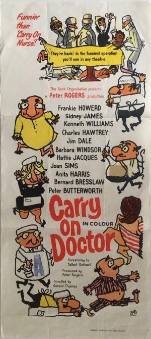 carry on doctor australian daybill poster 1967