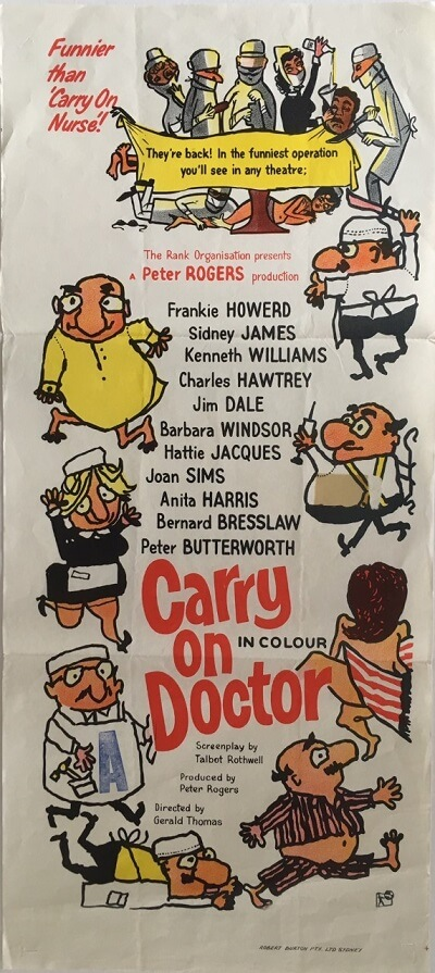 carry on doctor australian daybill poster 1967