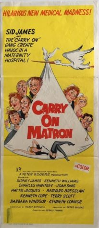 carry on matron australian daybill poster 1972