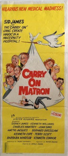 carry on matron australian daybill poster 1972