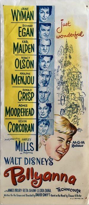 pollyanna walt disney australian daybill poster with hayley mills 1963