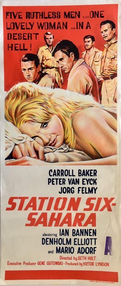 station six-sahara Australian daybill poster 1963