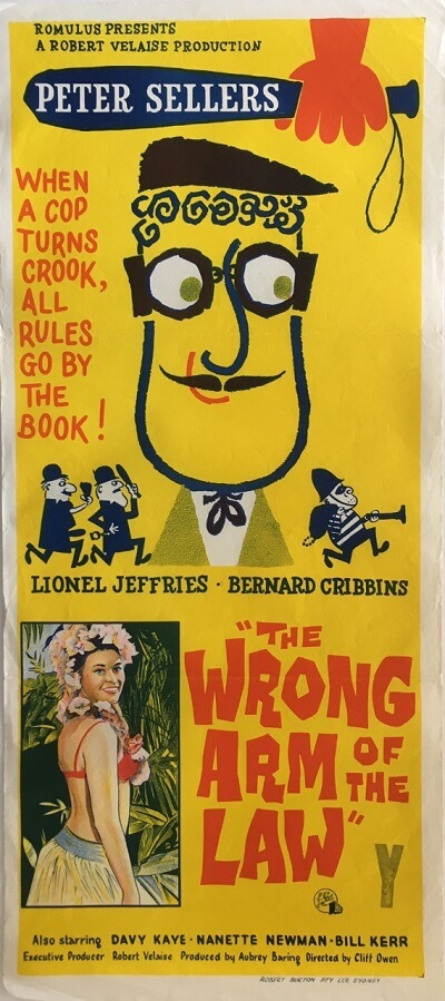 the wrong arm of the law australian daybill poster 1963