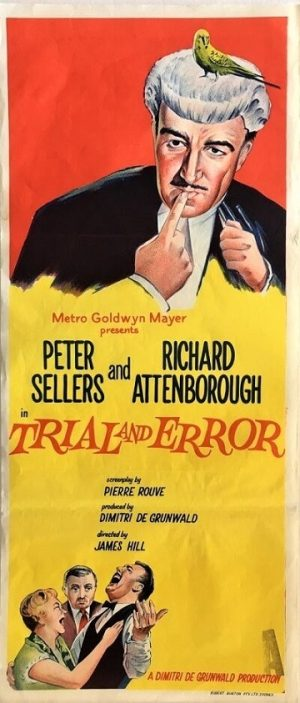 trial and error 1962 daybill poster with peter sellers