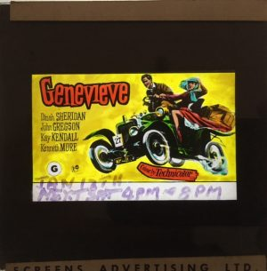 Genevieve original vintage 1954 film glass advertising slide