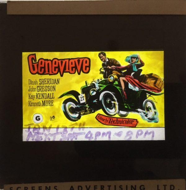 Genevieve original vintage 1954 film glass advertising slide