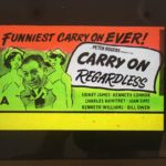 carry on regardless original vintage film glass advertising slide 1961, sid james, kenneth williams