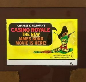 casino royale 1967 original vintage glass advertising slide, woody allen, david niven, peter sellers