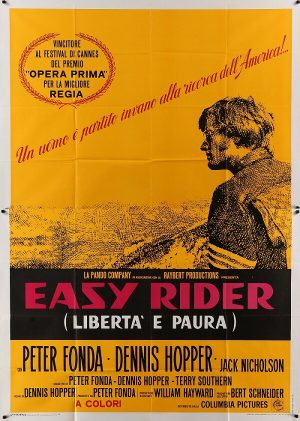 easy rider italian 1969 4 fogli (2 piece) original vintage movie film poster (1)