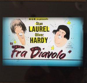 fra diavolo, the devil's brother original vintage 1954 re-release glass slide
