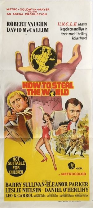 how to steal the world australian daybill poster 1968, the man from uncle