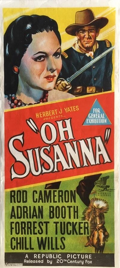 oh susanna australian daybill poster 1951 OS51DB1 (1)