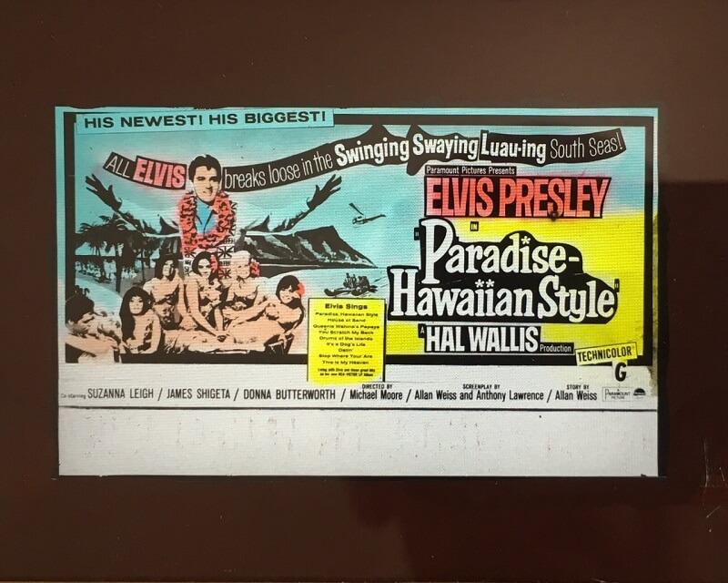 paradise hawaiian style 1966 original vintage advertising slide, elvis presley