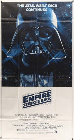 the empire strikes back 1980 3 sheet original vintage film movie poster (1)