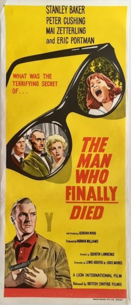 the man who finally died australian daybill poster 1963 Stanley Baker