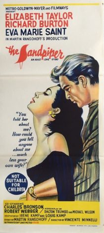 the sandpiper australian daybill poster 1965 elizabeth taylor, richard burton