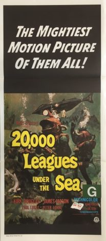 20000 leagues under the sea australian daybill poster 1971 re-release