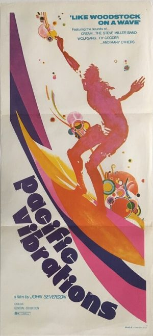 pacific vibrations australian daybill poster 1971