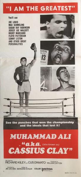a.k.a cassius clay australian daybill poster 1970 muhammad ali i am the greatest