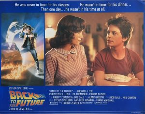 back to the future lobby card 1985 michael j fox BTTF85LC1