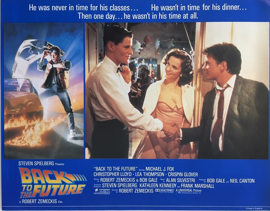 back to the future lobby card 1985 michael j fox BTTF85LC2