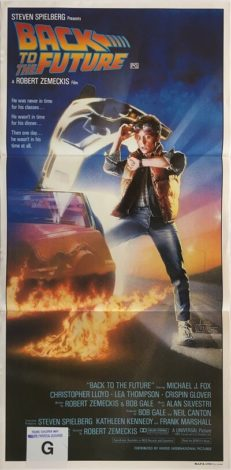 back to the future australian daybill poster 1985 michael j fox BFF85DB1
