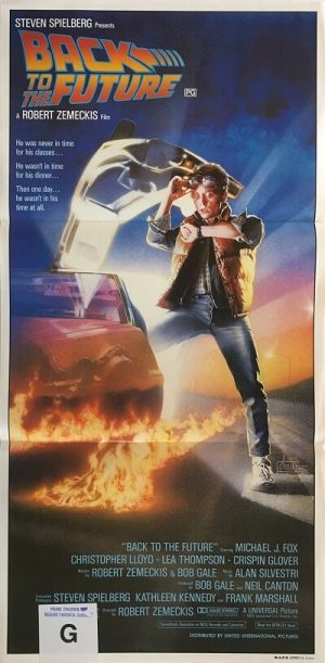 back to the future australian daybill poster 1985 michael j fox BFF85DB2