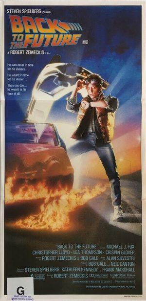 back to the future australian daybill poster 1985 michael j fox BFF85DB5