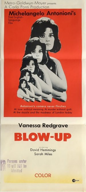 blow up blow-up 1967 austraian daybill poster DB1