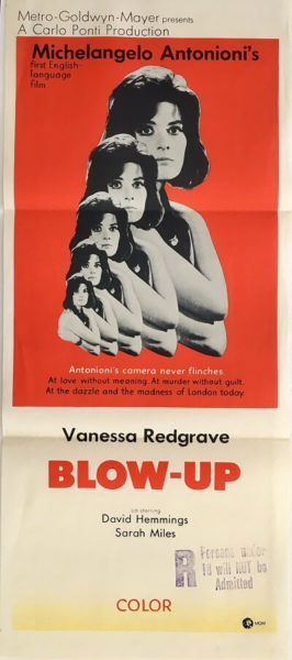 blow up blow-up 1967 austraian daybill poster DB2