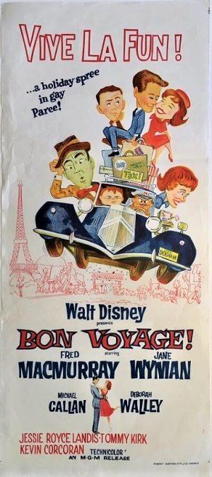bon voyage 1962 original vintage daybill poster 1962 Walt Disney