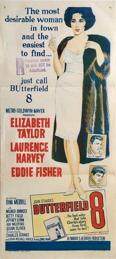 butterfield 8 australian daybill poster 1960 elizabeth taylor